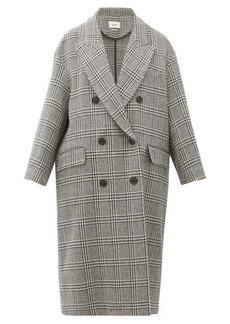 Isabel Marant Étoile Ojima checked wool-blend overcoat