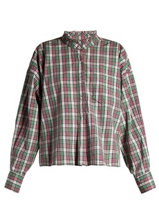 Isabel Marant Étoile Olena ruffled-collar check shirt