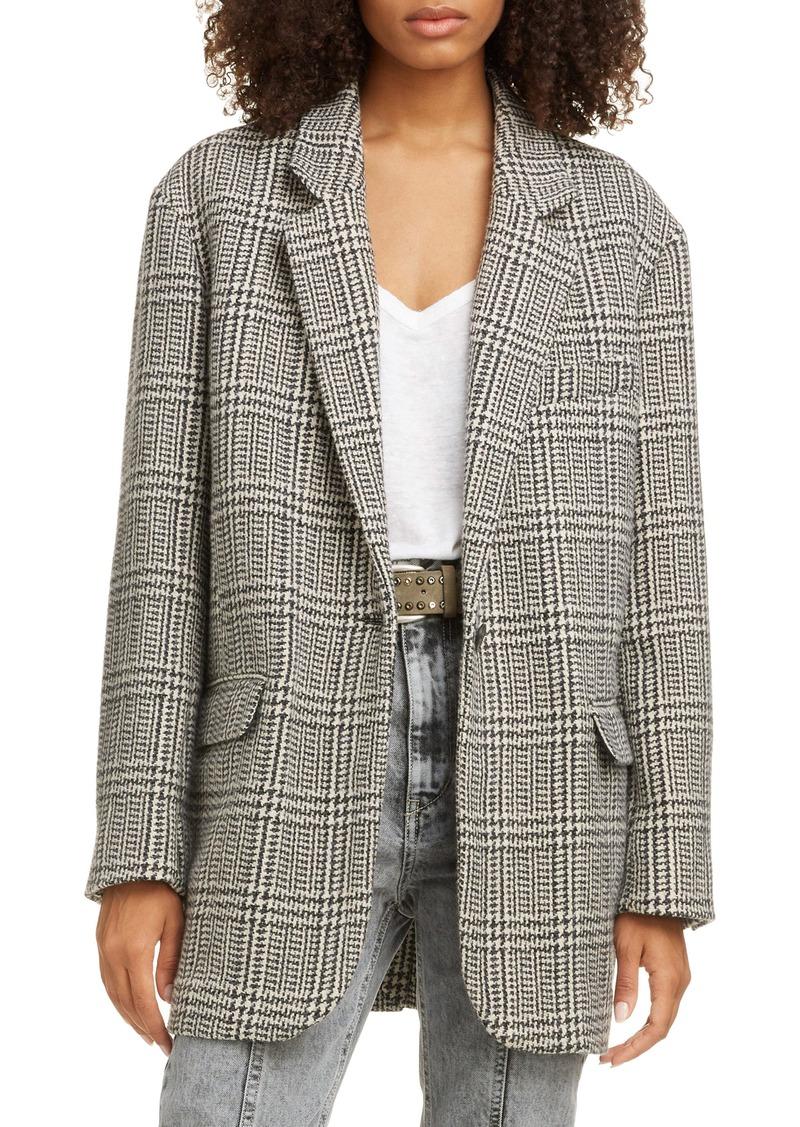 Isabel Marant Étoile Ondine Oversize Wool Blend Blazer