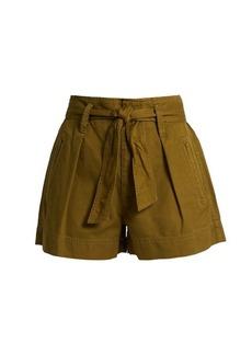 Isabel Marant Étoile Oscar tie-waist cotton shorts