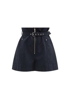Isabel Marant Étoile Parana paperbag-waist cotton-blend shorts