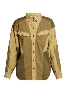 Isabel Marant Étoile Patchwork twill shirt