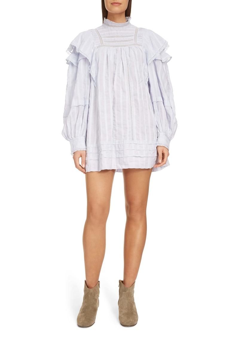 Isabel Marant Étoile Patsy Ruffle Lace Inset Shirtdress