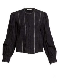 Isabel Marant Étoile Peachy crochet-insert cotton-voile blouse
