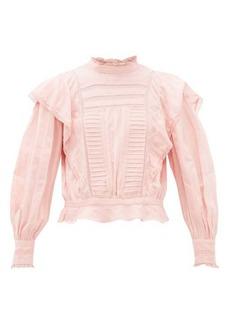Isabel Marant Étoile Perla ruffled striped cotton blouse