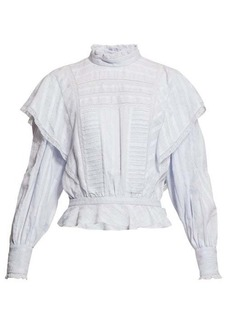 Isabel Marant Étoile Perla ruffled striped cotton blouse
