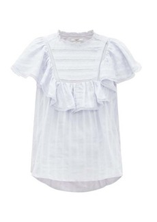 Isabel Marant Étoile Pleyel ruffled striped cotton blouse