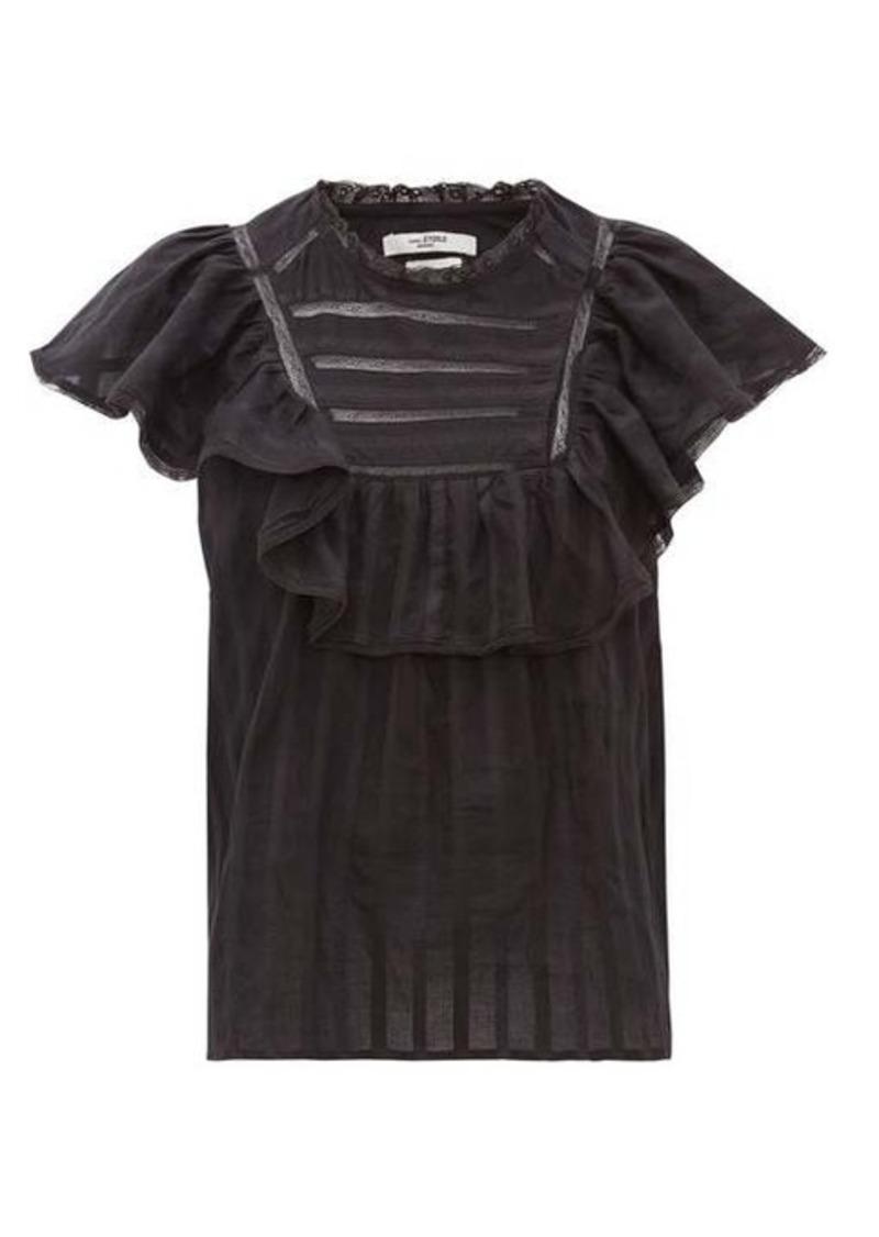 Isabel Marant Étoile Pleyel ruffled striped cotton blouse