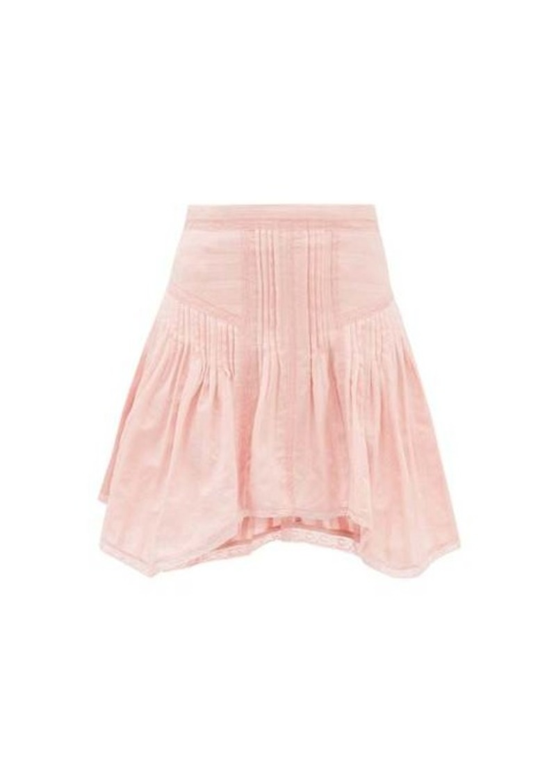 Isabel Marant Étoile Prandali handkerchief-hem cotton-voile mini skirt