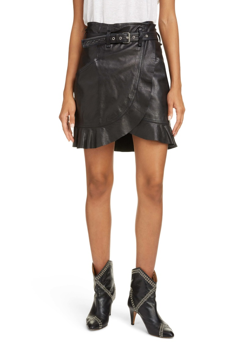 Isabel Marant Étoile Qing Leather Miniskirt