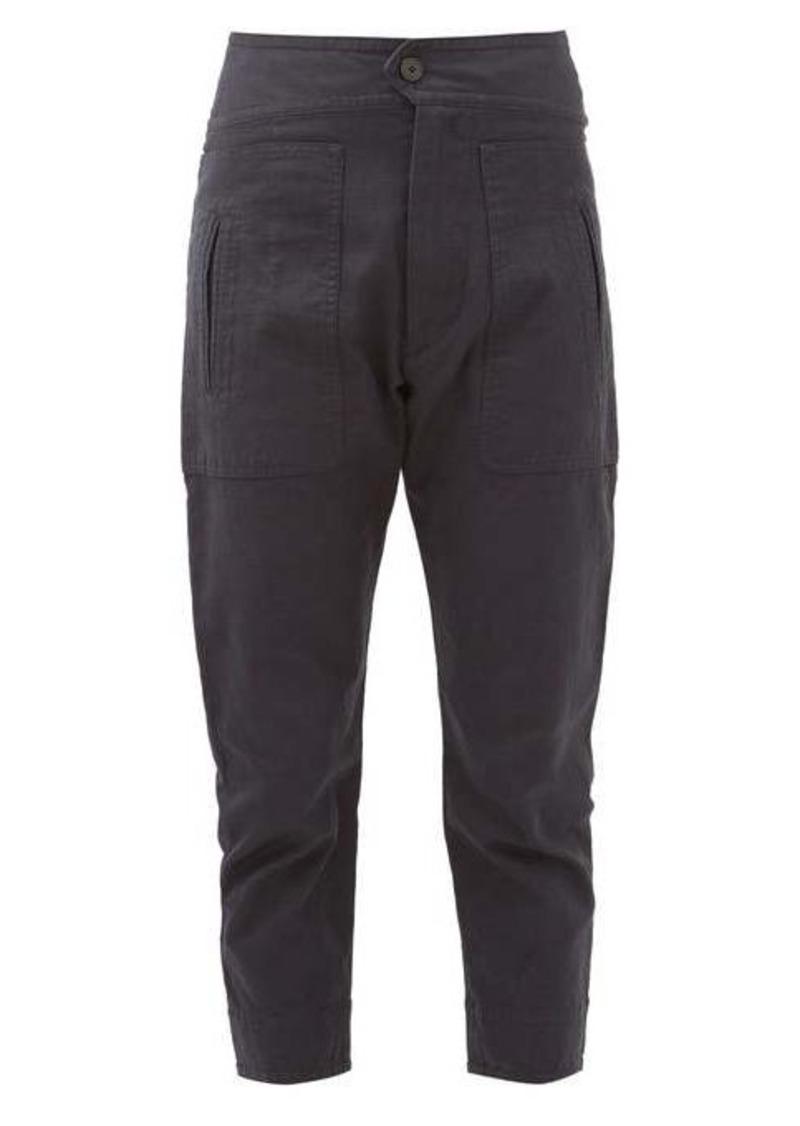 Isabel Marant Étoile Raluni high-rise cotton-blend trousers