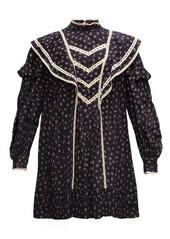 Isabel Marant Étoile Rebel lace-trimmed floral-dot cotton mini dress
