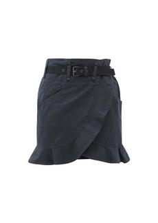 Isabel Marant Étoile Roan ruffled belted cotton-blend wrap mini skirt