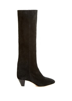 Isabel Marant Étoile Robby cone-heel suede knee-high boots