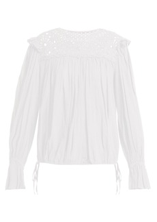 Isabel Marant Étoile Rock macramé-lace cotton top