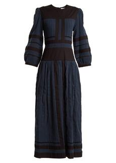 Isabel Marant Étoile Roomi bi-colour cotton-gauze dress