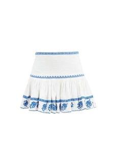 Isabel Marant Étoile Russel embroidered cotton mini skirt