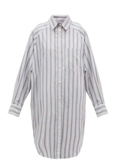 Isabel Marant Étoile Sanders striped cotton shirt dress