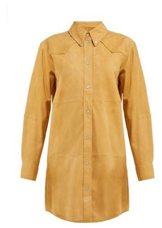 Isabel Marant Étoile Senna Western suede shirtdress