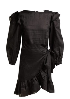 Isabel Marant Étoile Telicia ruffled linen mini dress