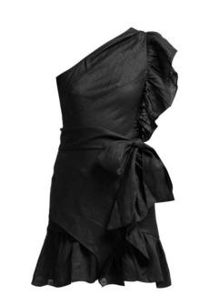 Isabel Marant Étoile Teller one-shoulder frill mini dress