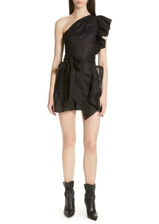 Isabel Marant Étoile Teller Ruffle One-Shoulder Dress
