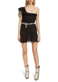 Isabel Marant Étoile Teller Ruffle One-Shoulder Dress