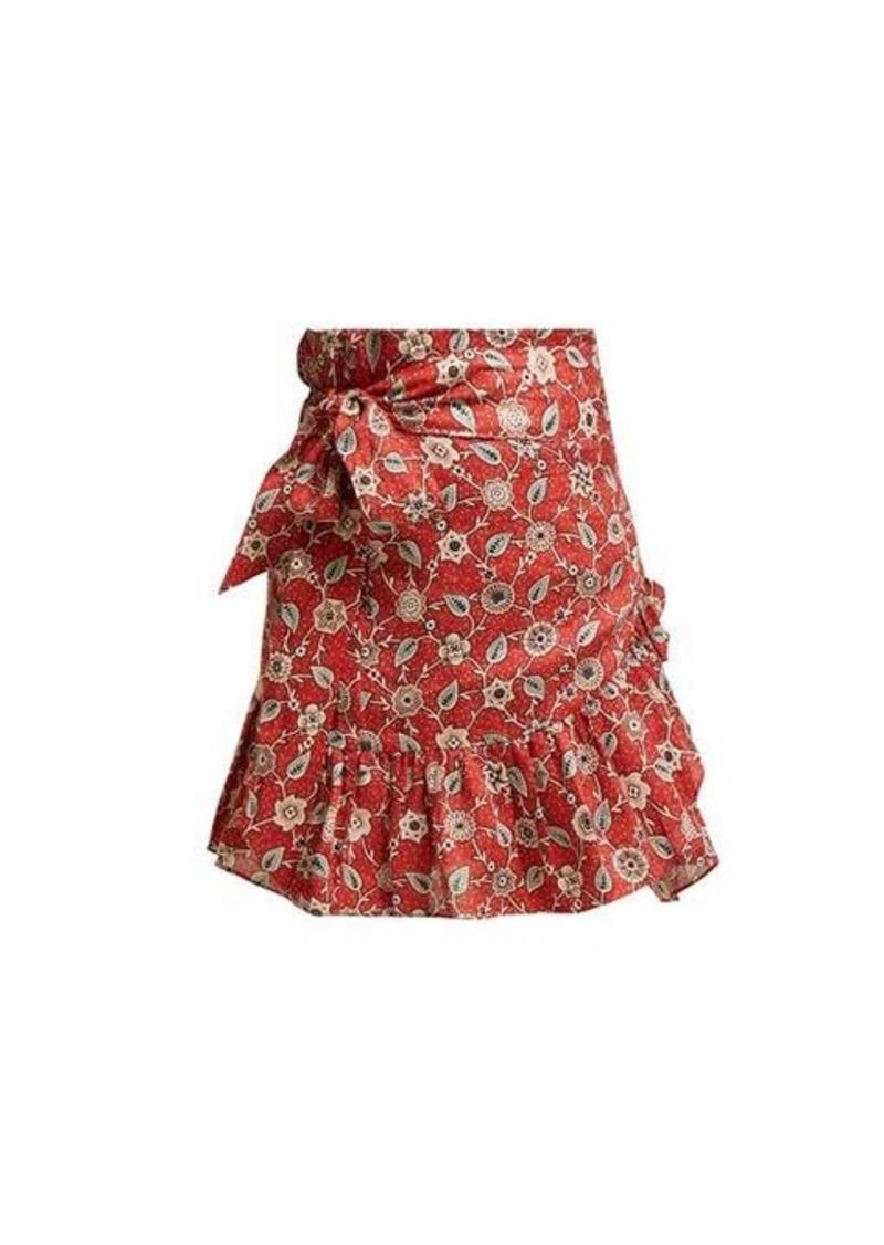 Isabel Marant Étoile Tempster floral-print cotton wrap skirt