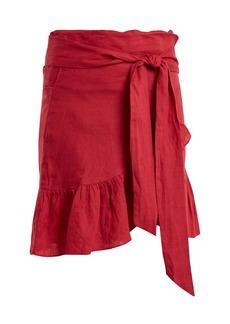 Isabel Marant Étoile Tempster linen wrap skirt