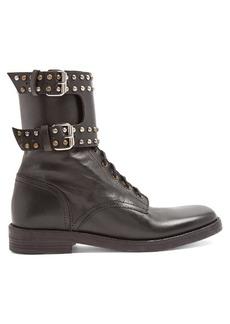 Isabel Marant Étoile Teylon stud-embellished leather ankle boots