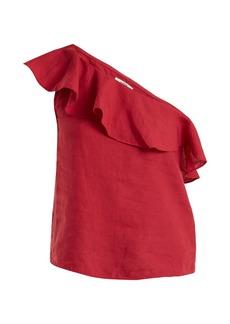 Isabel Marant Étoile Thom one-shoulder linen top