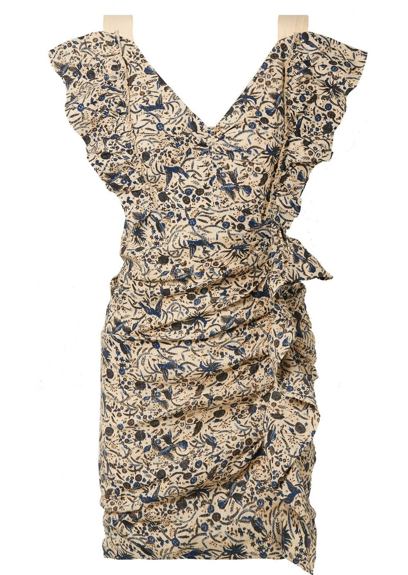 f96f9fe58ff Isabel Marant Topaz Ruffled Printed Linen Mini Dress