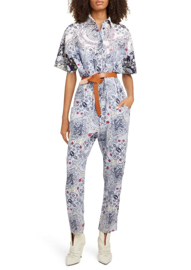 Isabel Marant Étoile Udena Print Cotton Jumpsuit