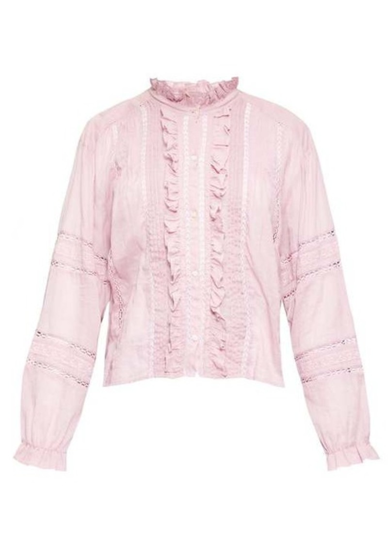 Isabel Marant Étoile Valda ruffled cotton-voile blouse