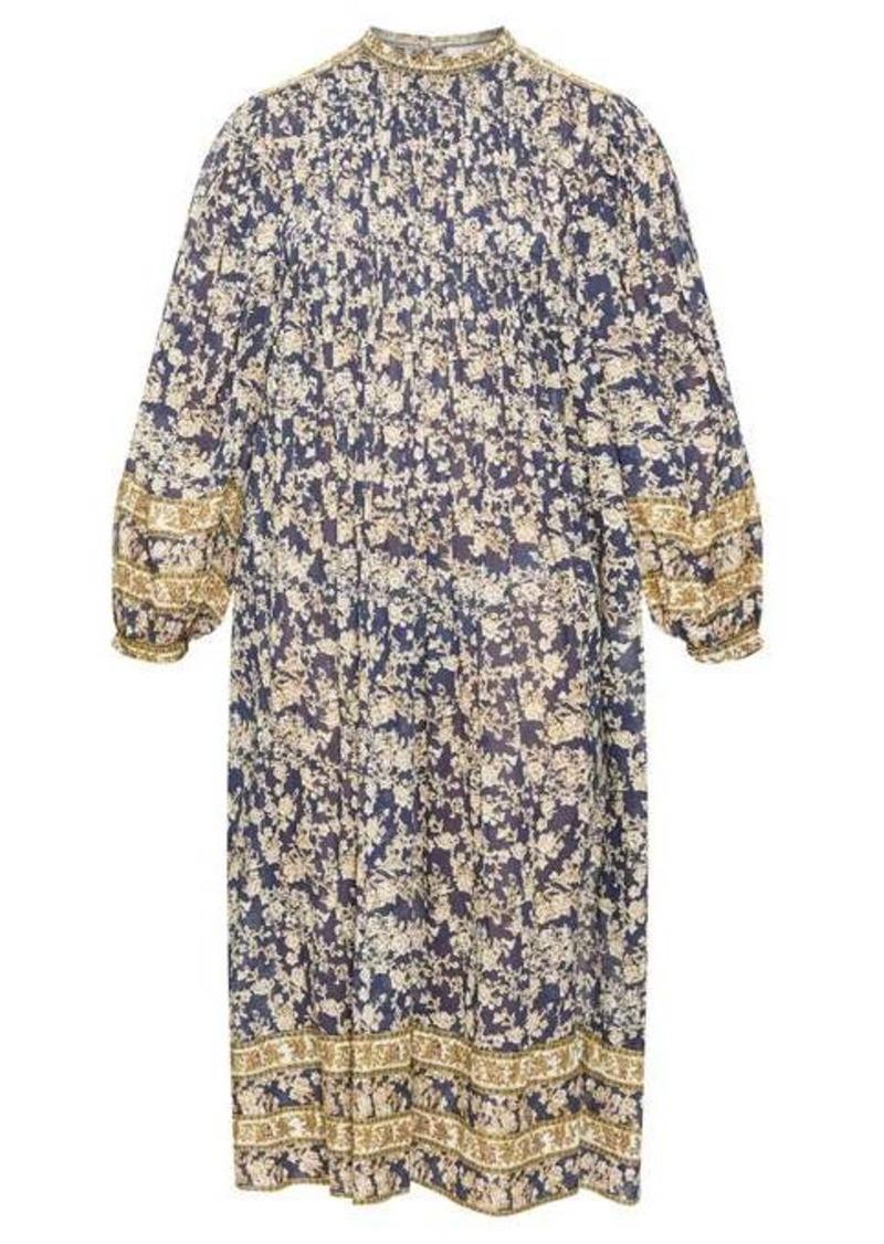 Isabel Marant Étoile Vanille floral-print pintuck pleated dress