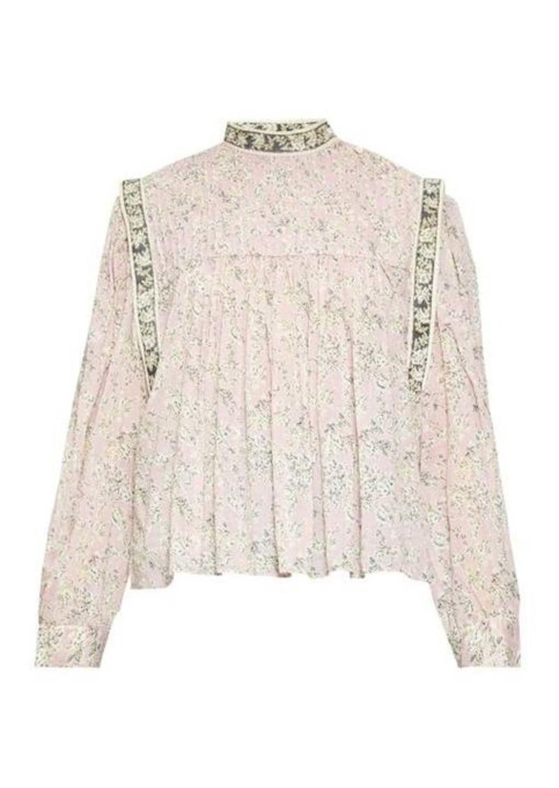Isabel Marant Étoile Vega high-neck floral-print blouse