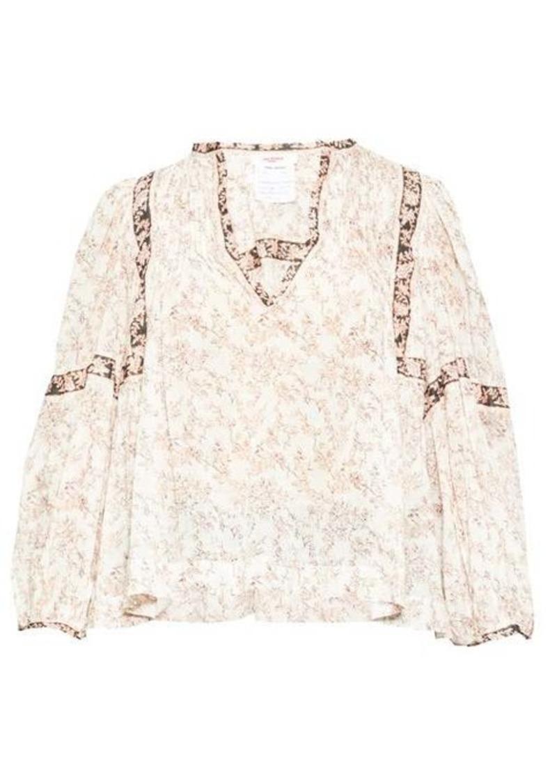 Isabel Marant Étoile Violette floral-print cotton-voile blouse