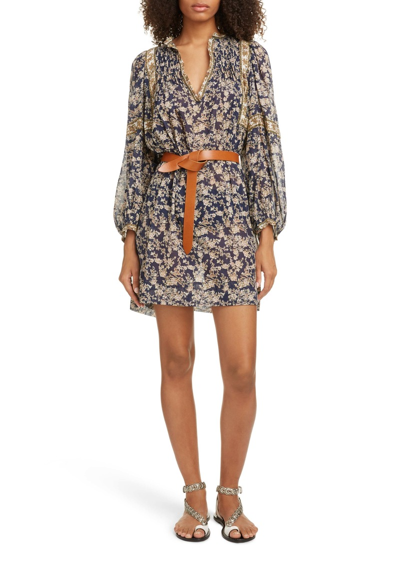 Isabel Marant Étoile Virginie Floral Print Cotton Minidress