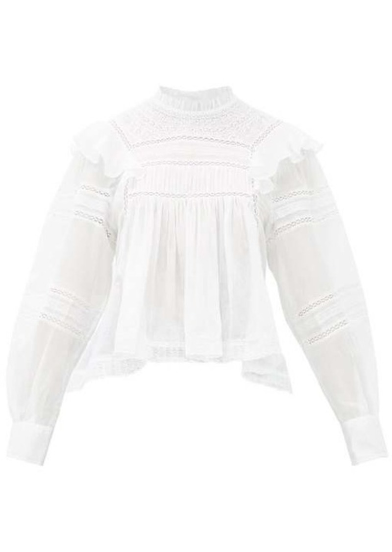 Isabel Marant Étoile Viviana high-neck ruffled cotton blouse