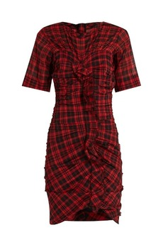 Isabel Marant Étoile Wallace checked cotton-blend mini dress