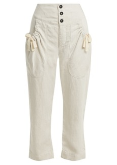 Isabel Marant Étoile Weaver high-rise cropped trousers