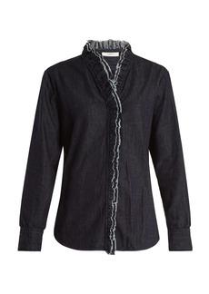Isabel Marant Étoile Wendy ruffle-trimmed chambray shirt