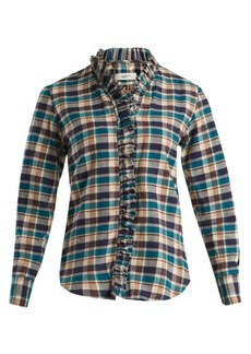 Isabel Marant Étoile Wendy ruffle-trimmed checked cotton shirt