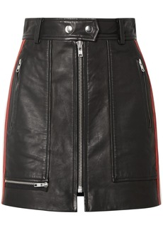 Isabel Marant Étoile Woman Alynne Striped Leather Mini Skirt Black