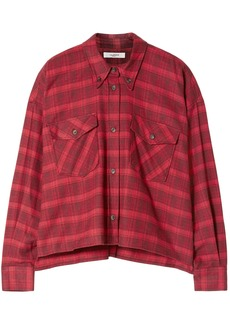 Isabel Marant Étoile Woman Checked Cotton-flannel Shirt Red