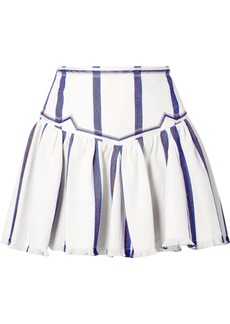 Isabel Marant Étoile Woman Delia Gathered Striped Cotton Mini Skirt White