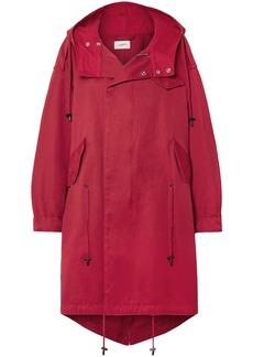 Isabel Marant Étoile Woman Duffy Oversized Cotton-canvas Hooded Coat Crimson