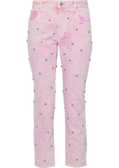 Isabel Marant Étoile Woman Fliffa Cropped Studded High-rise Straight-leg Jeans Baby Pink