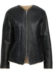 Isabel Marant Étoile Woman Izy Cracked-shearling Jacket Black