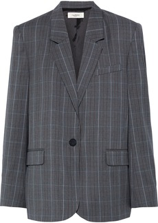 Isabel Marant Étoile Woman Verix Prince Of Wales Checked Wool Blazer Gray
